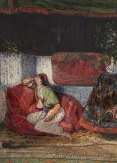 Young Oriental Woman In An Interior
