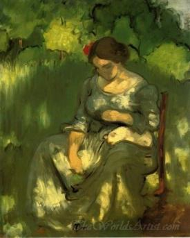 Woman With A Cat