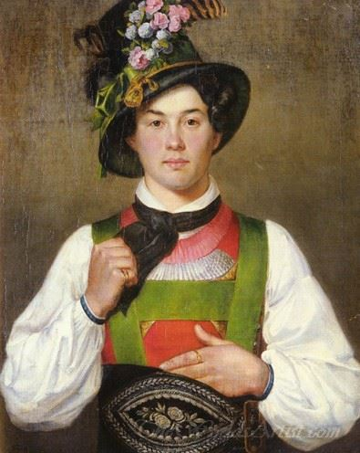 A Young Man In Tyrolean Costume