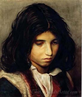 Half Portrait Of A Gypsy Boy