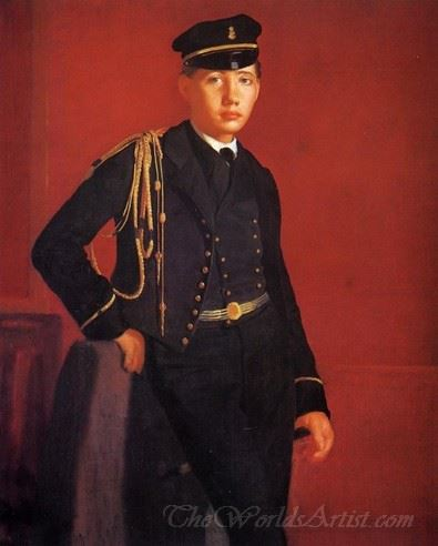 Achille De Gas The Artist Brother In The Uniform Of A Cadet