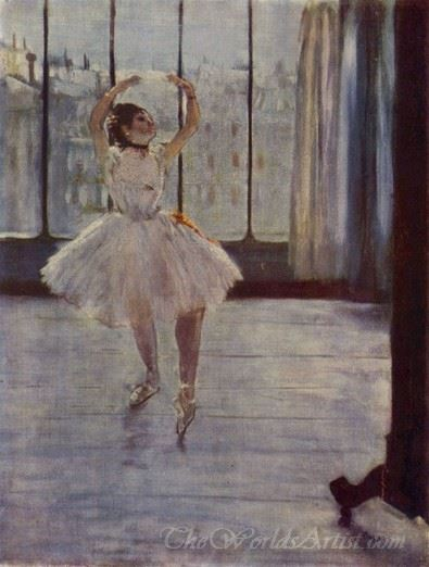Dancer At The Photographers Studio  (Dancer In Front Of A Window)