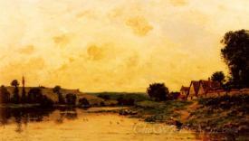 Lavandiere Au Bord De La Riviere  (Washerwoman Along The River)