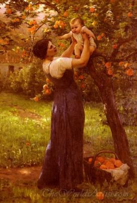 Mere Et Enfant Dans Le Jardin  (Mother And Child In The Garden)