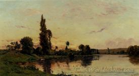 Washerwomen On A Riverbank