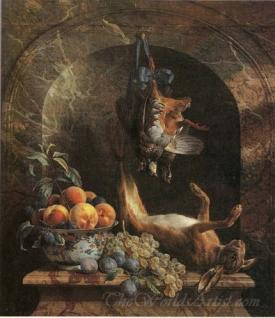 Nature Morte Aux Fruits Et Au Gibier  (Still Life With Fruit And Game)