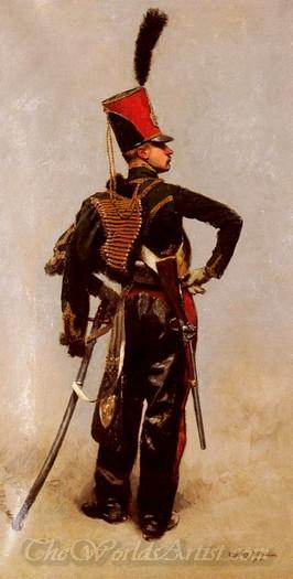 A Rank Soldier Of The 7th Hussar Regiment
