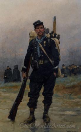 Un Soldat Avec Son Equipement  (Soldier With His Equipment)