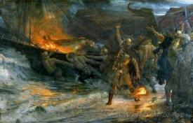 The Funeral Of A Viking
