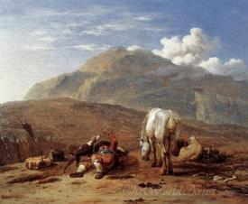 Italian Landscape With A Young Shepherd
