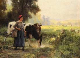 La Vachere  (The Milkmaid)
