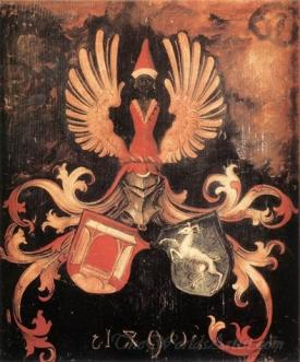 Alliance Coat Of Arms Of The Durer And Holper Families