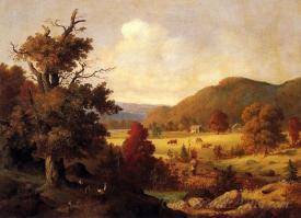 Woodland Glade In Autumn