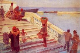 Figures On Venetian Steps