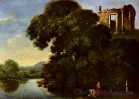 Landschaft Mit Dem Vestatempel In Tivoli  (Landscape With Vesta Temple In Tivoli)