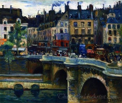 The Pont Neuf In Paris Grey Weather