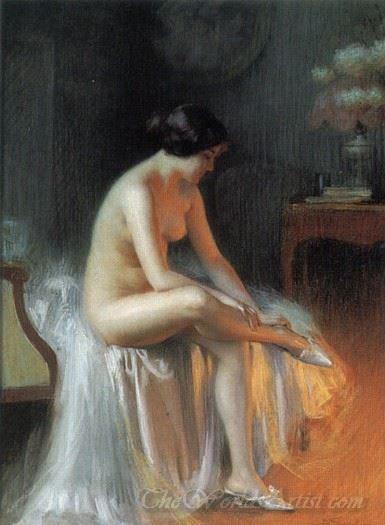 Nude By Firelight