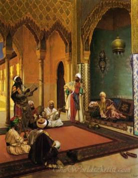 Traveling Musicians Playing For The Sultan