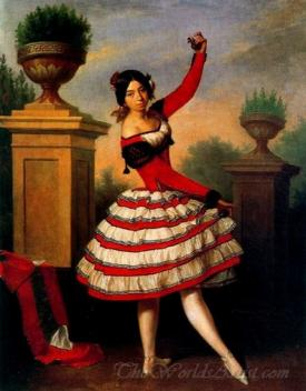 La Bailaora Josefa Vargas  (The Flamenco Dancer Josefa Vargas)
