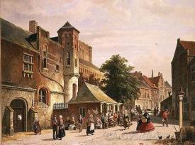 A Street Scene In Amsterdam