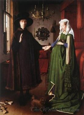 Portrait Of Giovanni Arnolfini And His Wife  (The Arnolfini Portrait)