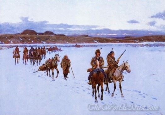 Departure For The Buffalo Hunt