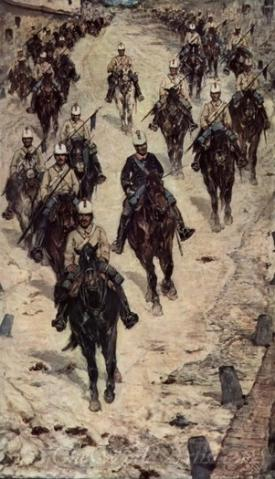 Cavalry Corps On A Village Street
