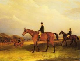 A Jockey On A Chestnut Hunter