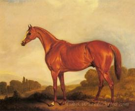 A Portrait Of The Racehorse Harkaway The Winner Of The 1838 Goodwood Cup