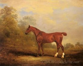Cecil A Favorite Hunter Of The Earl Of Jersey In A Landscap