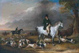 John Burgess Of Clipstone On A Favourite Horse With His Harriers