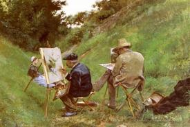 Los Dos Pintores  (Two Painters)