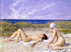 Sunbathing In The Dunes