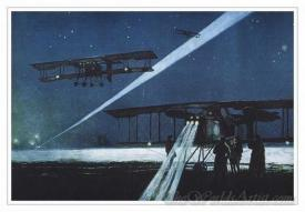 French Bombers Return From A Night Time Raid