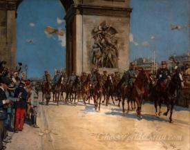 Le Défilé De La Victoire Le 14 Juillet  (Victory Parade Under The Arche De La Triomphe)