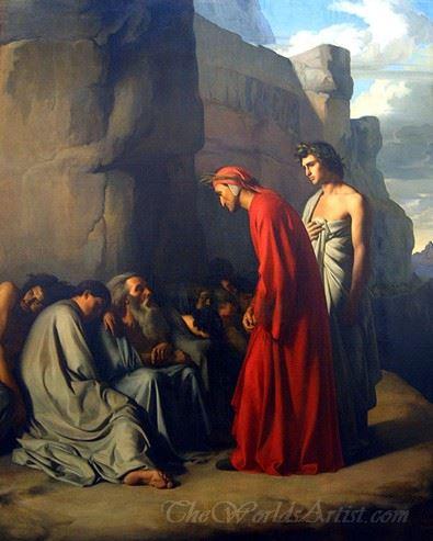 Le Dante Conduit Par Virgile Offre Des Consolations Aux Ames Des Envieux  (Dante Led By Virgil Offer Consolation To Souls Of The Envious)