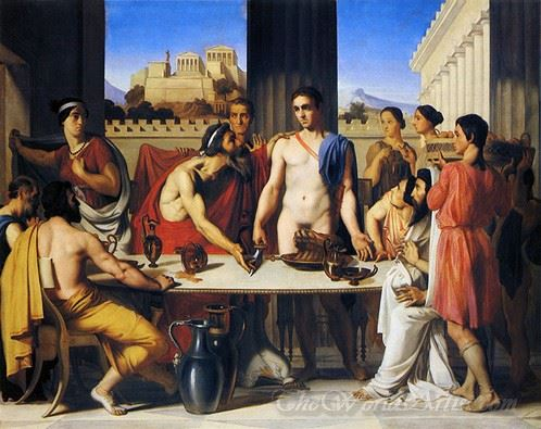 Recognition Of Theseus By His Father