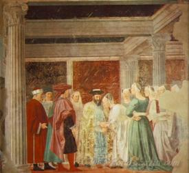 Legend Of The True Cross Meeting Of Solomon And The Queen Of Sheba