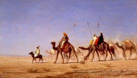 A Caravan Crossing The Desert