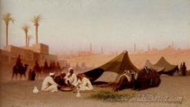 A Late Afternoon Meal At An Encampment Cairo