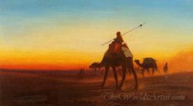 Caravane Coucher Du Soleil  (Caravan Sunset)