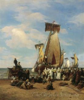 Departure Of Herring Fleet In Scheveningen