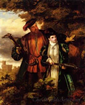 Henry Viii And Anne Boleyn Deer Shooting In Windsor Forest