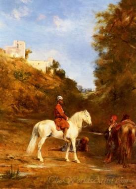 Watering The Horses