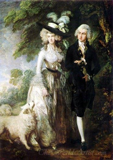 The Morning Walk  (Mr And Mrs William Hallett)