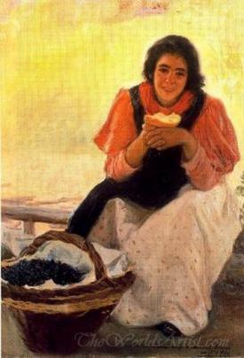 Chica Comiendo Pan  (Girl Eating Bread)