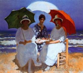 Mujeres Con Sombrilla  (Women With Umbrella)
