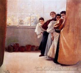 Mujeres Detras De Una Cortina  (Women Behind The Curtain)