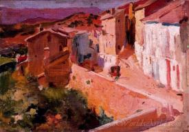 Paisaje De Pueblo Manzanera  (Village Landscape Manzanera)