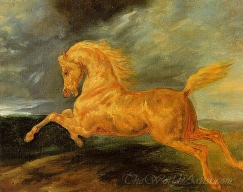 A Horse Frightened By Lightening